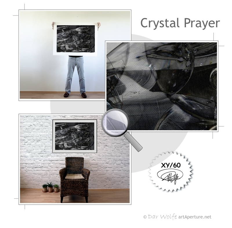 ArtAperture.net - Dar Wolfe - Crystal Prayer - Jazzy - Modern technique used to create artistic distortion of natural and artificial objects.