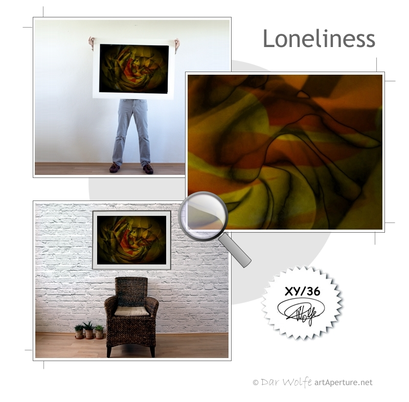 ArtAperture.net - Dar Wolfe - Loneliness - Floral - Showcase of floral beauty achieved through a selective fusion of reality and art.