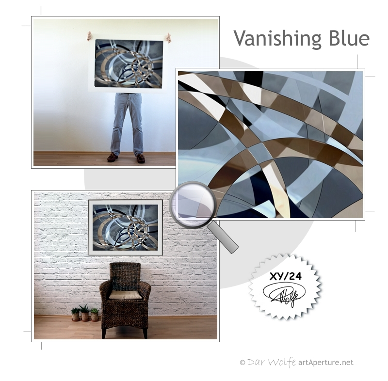 ArtAperture.net - Dar Wolfe - Vanishing Blue - Holistic - A modern art holistic approach to symbolic interactionism.