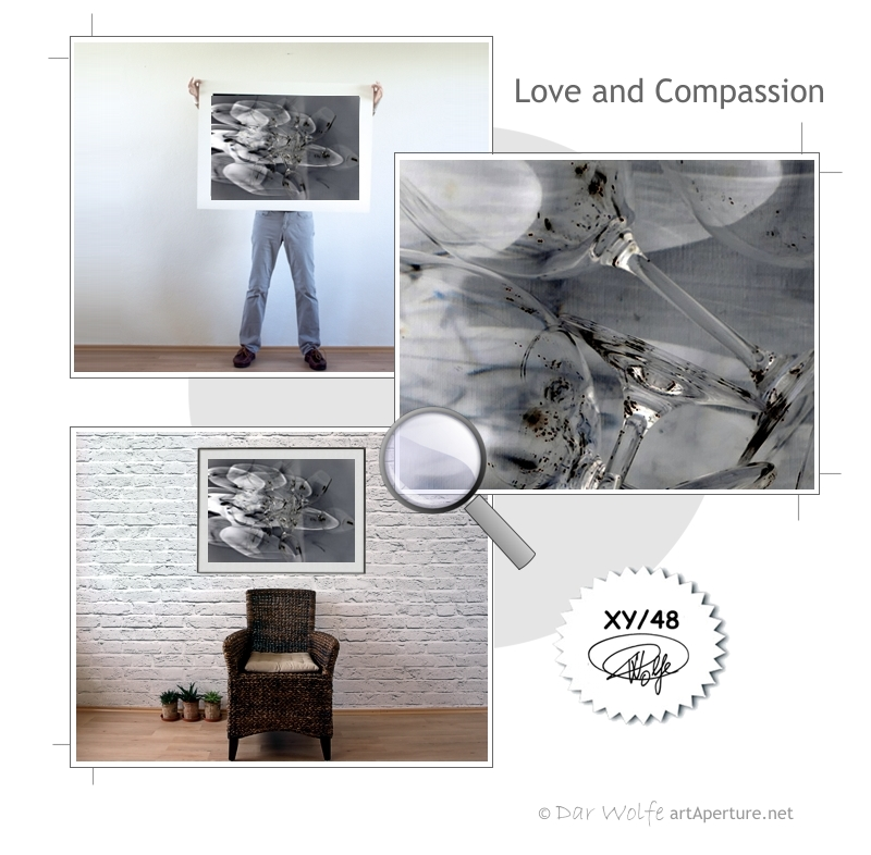 ArtAperture.net - Dar Wolfe - Love and Compassion - Enigmatic - A study of optical distortion achieved through play on light and shade.