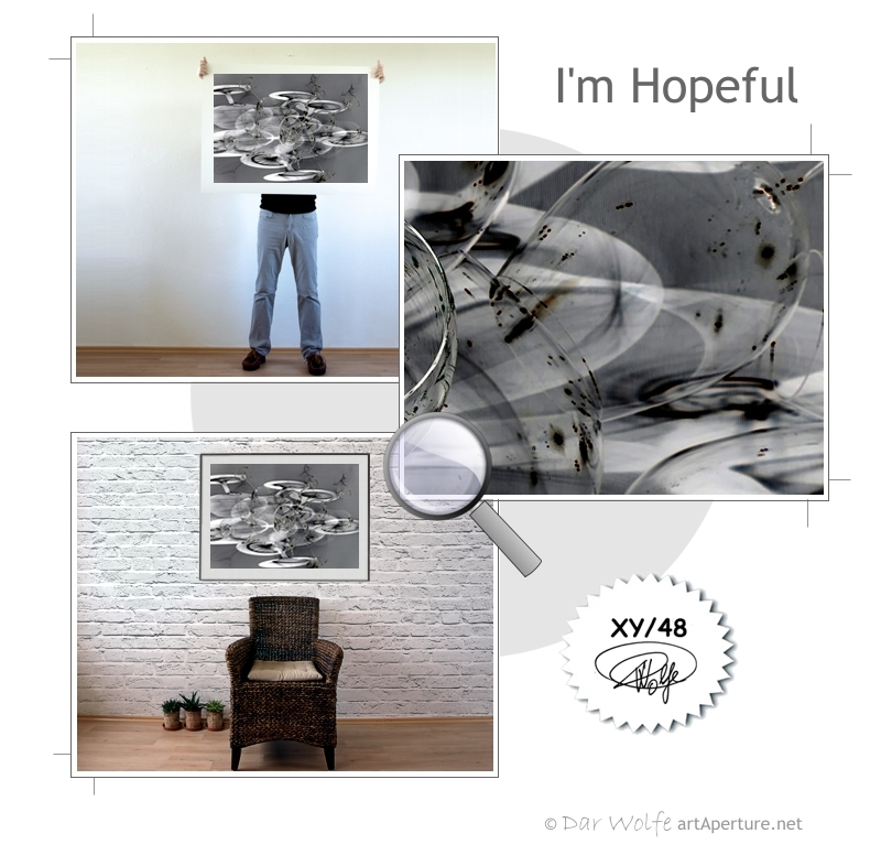 ArtAperture.net - Dar Wolfe - I'm Hopeful - Enigmatic - A study of optical distortion achieved through play on light and shade.