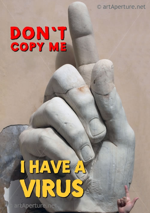 Fine Art Print - ArtAperture Graffiti Poster - Don't copy me, I have a virus